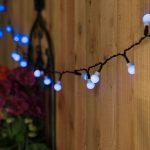 Solar Berry Fairy Lights, 50 Blue LEDs, 5m