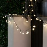 Solar Multi Function Heart Fairy Lights