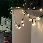 Solar Heart Fairy Lights, 50 Warm White LEDs, 5m