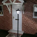 Large Black Solar Lamp Post, 2.1M