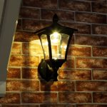 Outdoor Solar Wall Light, 34cm