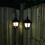 Solar Security Welcome Wall Light with PIR, Warm White LEDs, 2 Pack