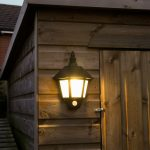Black Outdoor Solar Security Welcome Wall Light with PIR