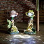 Solar Fairy Decorative Figurine Spot Lights, White LEDs, 2 Pack