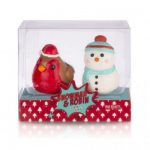 Snowman And Robin Lip Balm Set