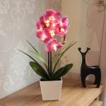 Battery-Orchid-Flower-Light-with-Pot-56cm