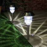 Super Solar Garden Stake Path Lights, High Power LED, 2 Pack