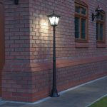 Super Solar Aluminium Lamp Post, White LED, 1.7M