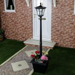 Plug-In Outdoor Aluminium Lamp Post with Pot, 24V, White LED, 1.7M