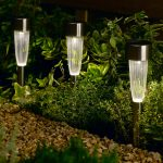 10 Fluted Solar Stake Lights