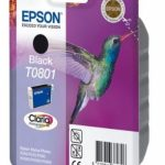Genuine Black Epson T0801 Ink Cartridge – C13T08014010