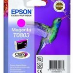 Genuine Magenta Epson T0803 Ink Cartridge – C13T08034010
