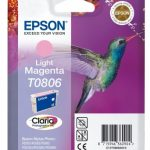 Genuine Light Magenta Epson T0806 Ink Cartridge – C13T08064010