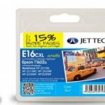 Epson T1632 Cyan Remanufactured Ink Cartridge by JetTec – E16CXL