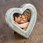 Personalised Rustic Heart Photo Frame