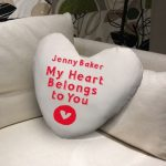 Personalised My Heart Belongs to you Cushion