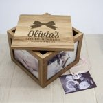 Personalised Babys Oak Photo Keepsake Box