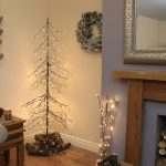 1.8m Outdoor Downswept Snow Twig Tree with 240 Warm White LEDs