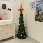 1.8m Green Pre-Lit Pop Up Christmas Tree with Decorations