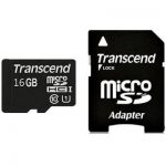 Transcend Premium Micro SDHC Class 10 UHS-I 300x with Adapter – 16GB