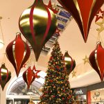 3m Giant Gold and Red Indoor Inflatable Christmas Bauble