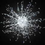 Illuminated White 'Calgary' Light Spark, 80cm