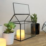 Metal & Glass Rectangle Shape Terrarium, 15cm